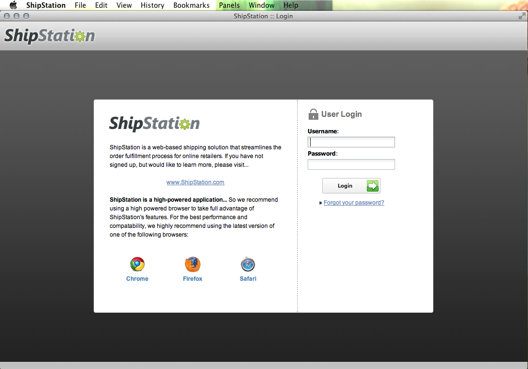 Making ShipStation a Native Mac App Using Fluid - Preview